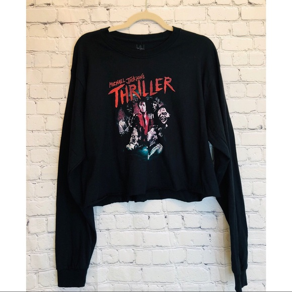 7941a18f919 Michael Jackson Thriller Crop Long Sleeve•. M_5bf0c51ade6f62559e9449df